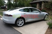 Tesla model s p85 silver metallic paint
