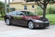 Tesla model s p85 metallic brown paint