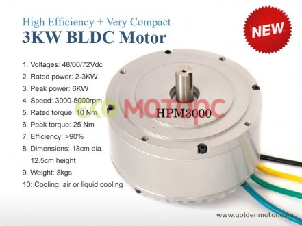 Электромотор HPM3000B -- High Power BLDC Motor